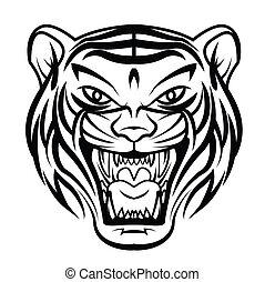 tigre, cara