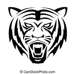 tigre, cara, símbolo