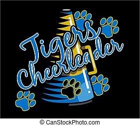 tigre, cheerleader