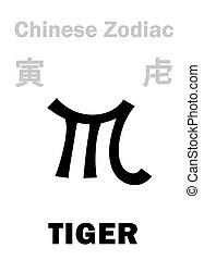 tigre, chino, (sign, zodiac), astrology: