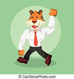 tigre, conception, illustration affaires