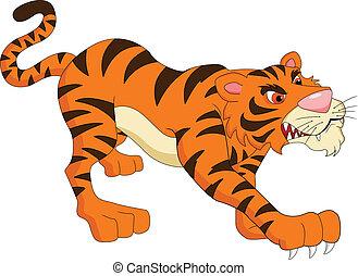 tigre, dessin animé