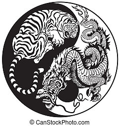 tigre, dragon, yang, yin