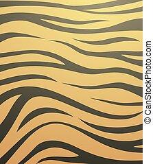 tigre, fond, peau
