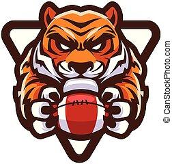 tigre, football américain, mascotte