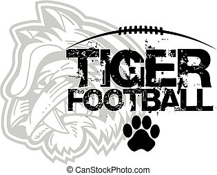 tigre, football, conception