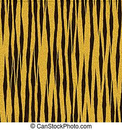 tigre, fourrure