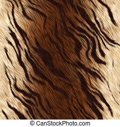 tigre, fourrure, peau animale