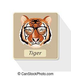 tigre, illustration.