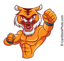 tigre, muscle