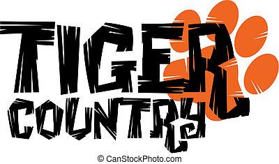 tigre, país, diseño