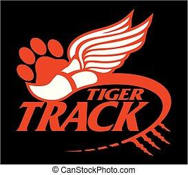 tigre, piste