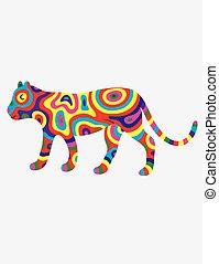tigre, résumé, colorfull