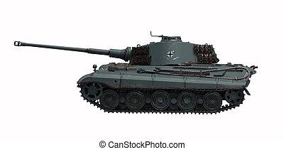 tigre, rey, 2, tanque