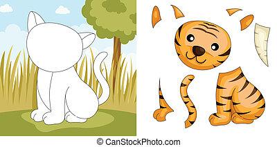 tigre, rompecabezas