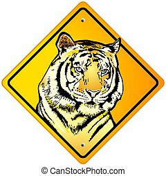 tigre, señal