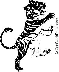 tigre, stylisé, illustration