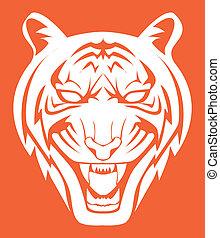 tigre, symbole, figure
