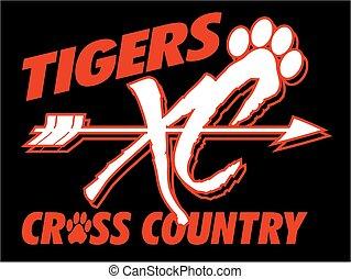 tigres, país, cruz
