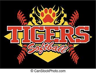 tigres, softball