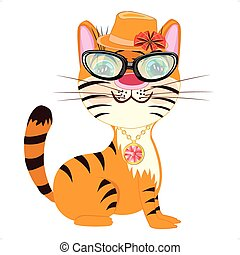 tigress fashionable.eps - Vector illustration fashionable...