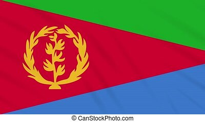 Tigrinya flag waving cloth, ideal for background, loop