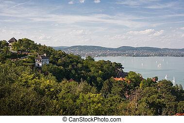 Tihany and lake Balaton.