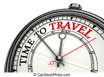 tijd, aan reis, concept, klok