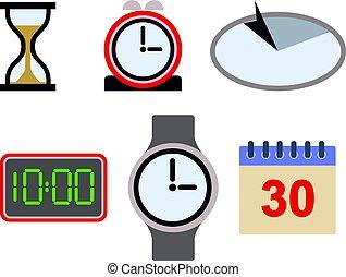 tijd, aanwinst, pictogram