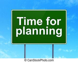 tijd, concept:, tijd, voor, planning, op, wegaanduiding,...
