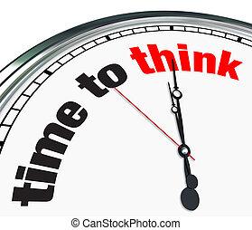 tijd, -, denken, klok