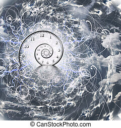 tijd, en, quantum fysica