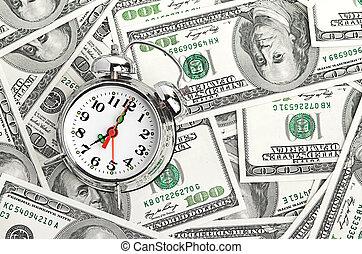 tijd, -, geld., handel concept