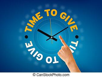 tijd, geven