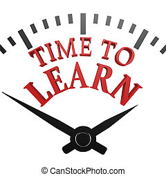 tijd, om aan te leren, klok