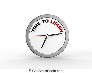 tijd, om aan te leren