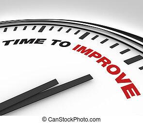 tijd, om te, verbeteren, -, klok, van, deadline, voor, plan,...