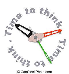 tijd, te denken