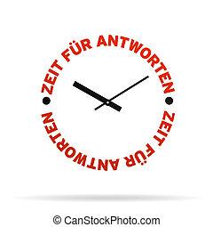 tijd, voor, antwoorden, klok