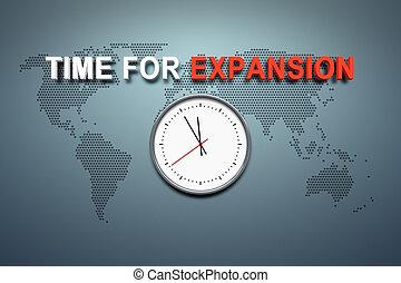 tijd, voor, uitbreiding, op, de muur