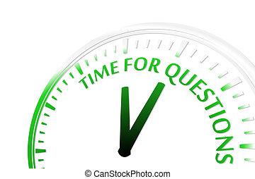 tijd, voor, vragen