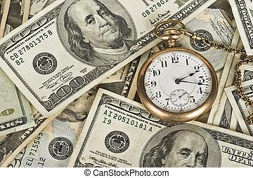 tijd, waarde, van, geld
