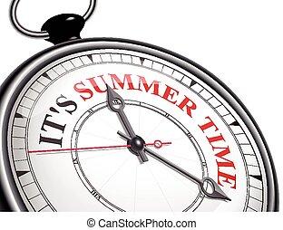 tijd, zomer, concept, informatietechnologie, klok