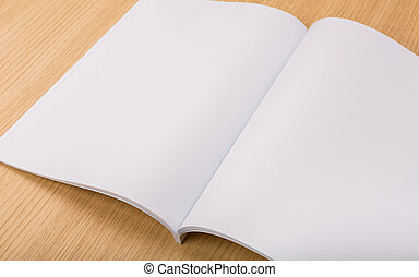 tijdschriften, op, hout, achtergrond, leeg, catalogus,...
