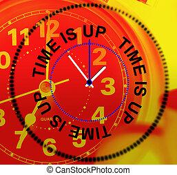 tijdstip is boven, middelen, controleren, deadline, en,...