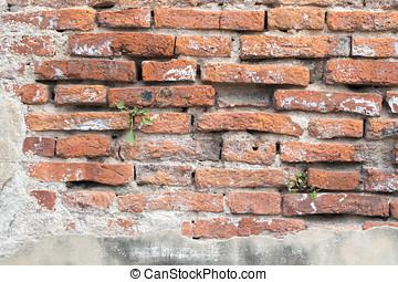 tijolo, antigas, texture., fundo, wall.