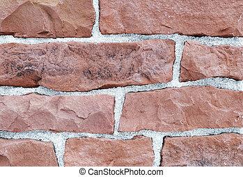 tijolo, exterior pedra, e, decoração interior, material...