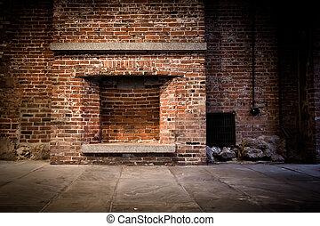 tijolo, lareira