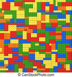 tijolos brinquedo, colora experiência