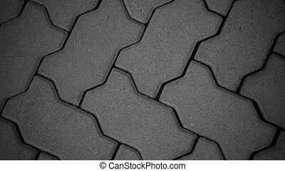 tijolos, chão